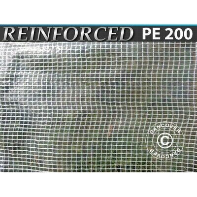 Bâche 8x12m, Maillage Renforcé PE 200g/m², Transparent