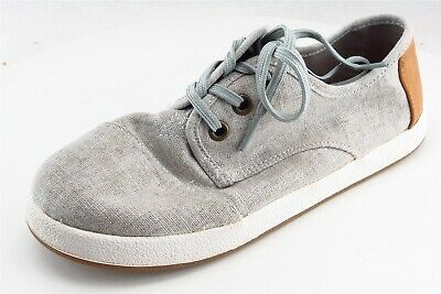 Toms Gray Fabric Casual Shoes Girls Shoes Size 3