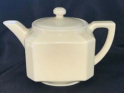 Vintage 1930's Butter Yellow FOLGERS Ceramic Coffee Pot, All China, With Lid