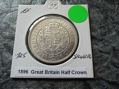 1896 - HALF CROWN - SILVER Coin - GB - HIGH Grade Coin - RARE/Scarce