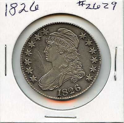 1826 50C Capped Bust Silver Half Dollar. Almost Uncirculated. Lot #2365