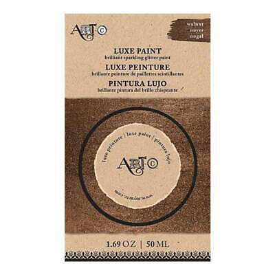 Art-C Luxe Brilliant Sparkling Glitter Paint 50Ml - Walnut Brown Metallic