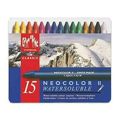 Caran D'ache Neocolor 2 Water Soluble Wax Pastel Set 15 Pack