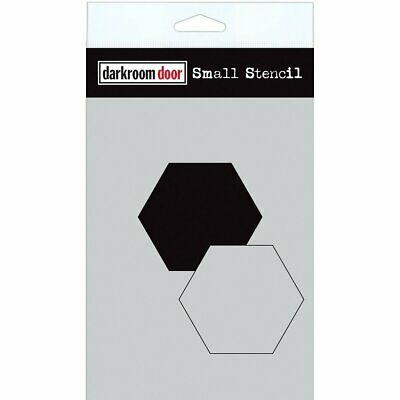 Darkroom Door - Stencil 4.5 inch X6 inch  - Hexagon