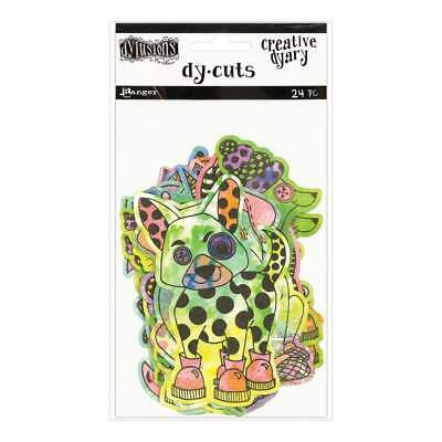 Dyan Reaveleys Dylusions Creative Dyary Die Cuts Colored Animals