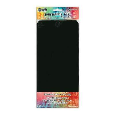Dyan Reaveley's Dylusions Journal Tags 10 Pack  - Black #12