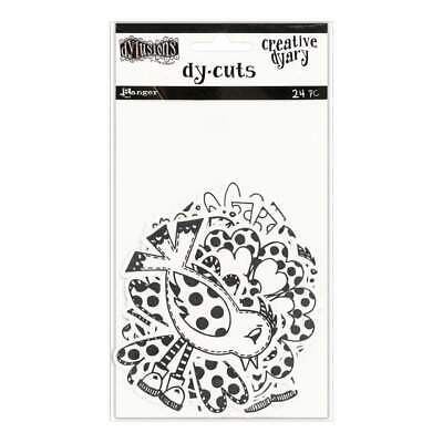 Dyan Reaveleys Dylusions Creative Dyary Die Cuts Black & White Birds & Flowers