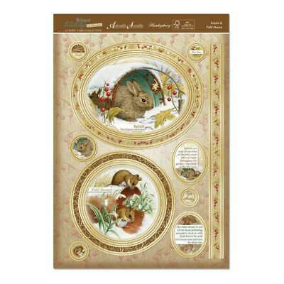 Hunkydory Winter Wildlife A4 Topper Set Rabbit & Field Mouse
