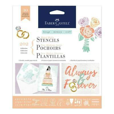 Faber Castell - Design Memory Craft Mixed Media Stencils 10 pack - Wedding
