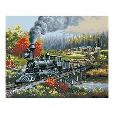 Paint By Number Kit 16 Inch X20 Inch  Logging Camp Run