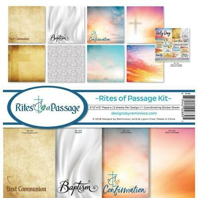 Reminisce Collection Kit 12 inchX12 inch - Rites Of Passage