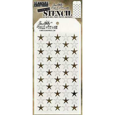 "Tim Holtz Layered Stencil 4.125""X8.5"" - Shifter Stars"