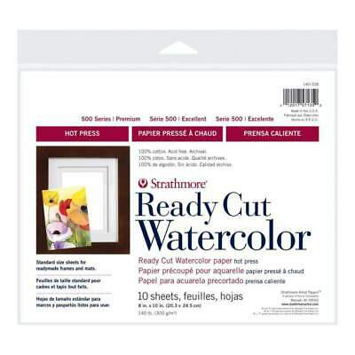 Strathmore Watercolour Paper Pack 8 inch X10 inch 10 Sheets