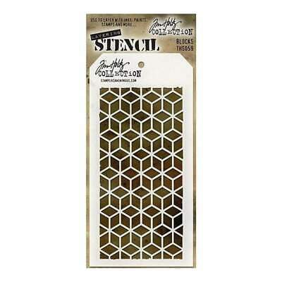 Tim Holtz Layered Stencil 4.125X8.5 - Blocks