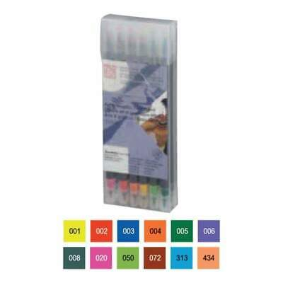 Zig Art & Graphic Twin RB+F 12 pack - Basic Colours