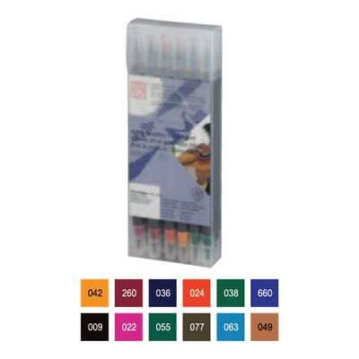 Zig Art & Graphic Twin RB+F 12 pack - Deep Colours