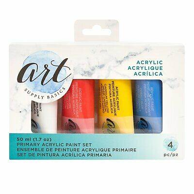 American Crafts - Art Supply Basics Collection - Primary Acrylic Paint Set