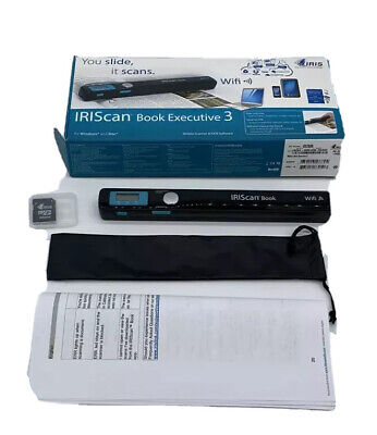IRIScan Book 3 Executive Wireless Portable 900 dpi Color Scanner with WiFi New