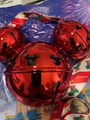 Disney Parks 2019 Christmas Holiday Mickey Jingle Bell Souvenir Sipper NWT
