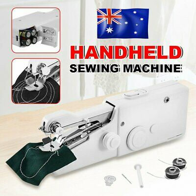 Mini Portable AU Stitch Home Handheld Hand Held Cordless Clothes Sewing Machine