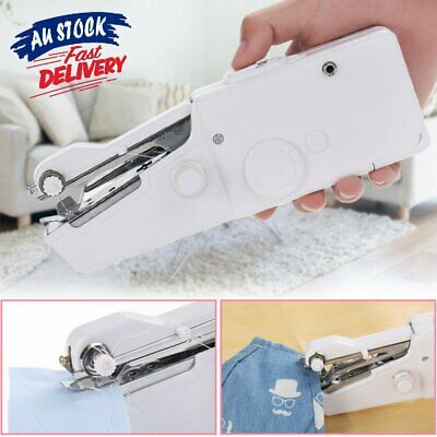 AU Mini Portable Handheld Cordless Sewing Machine Hand Held Stitch Home Clothes