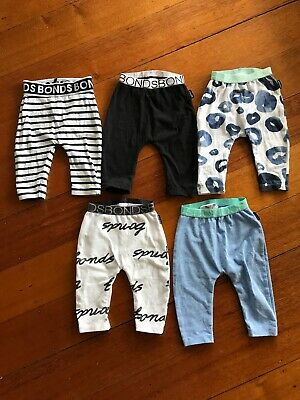 baby bonds leggings Size O-3 Months X5 Bundle / Baby Boy / Leggings