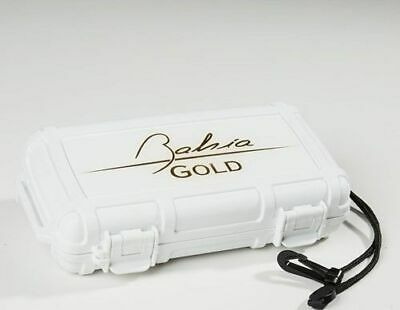 Herf A Dor X5 WHITE 5 Cigar Travel Case Humidor BAHIA GOLD Edition! SAVE 16%!