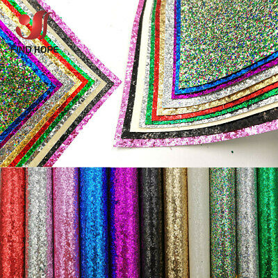 Sparkly Chunky Glitter Fabric Rainbow iridescent Faux Leather DIY Bow Earring