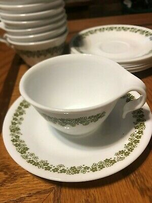 Vintage Corelle Crazy Daisy Spring Blossom Dinnerware Cup and Saucer Set