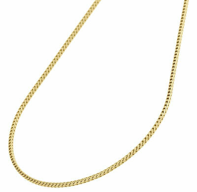 "10K Yellow Gold 1.25mm Solid Solid Franco Box Chain Necklace 26""  26 Inch Mens"