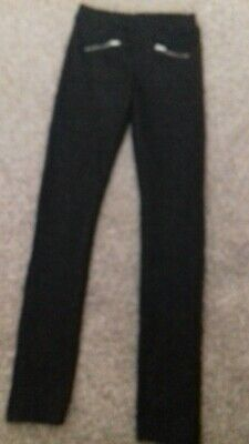 Girls Black Sparkly Trousers H&M 146Cm