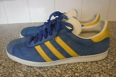 Mens, Adidas Gazelle, Trainers, Blue Suede, Size 9 Uk