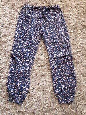 Girls Primark Flowery Summer Trousers 11-12 Years
