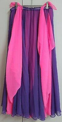 Double Layered Dancing Skirt & Veil - Pink & Purple Inter-Changeable - AS NEW