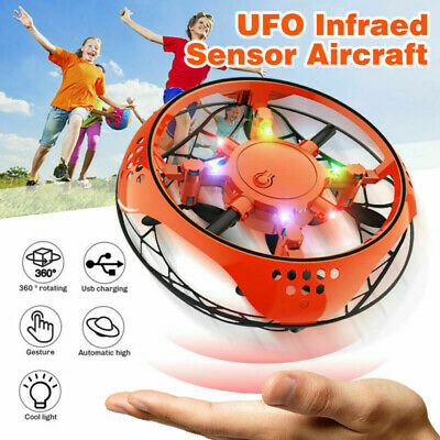 360° Mini Drone Smart UFO Aircraft for Kids Flying Toys RC Hand Control Gift CA