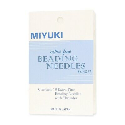 Miyuki Extra Fine 0.4mm Beading Needles & Threader Pack of 6  Jewellery Making