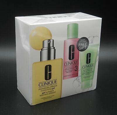Clinique Set: DDMG 200 ml + Clarifying Lotion 3 + Liquid Facial Soap Oily Skin