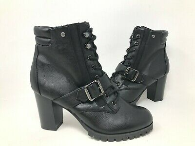 Women/'s Simply Vera Skylark Wide Fit Ankle Boots Black N19 New!