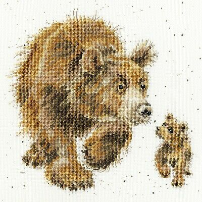 Bothy Threads Wrendale In My Footsteps - Bear Cross Stitch Kit by Hannah Dale