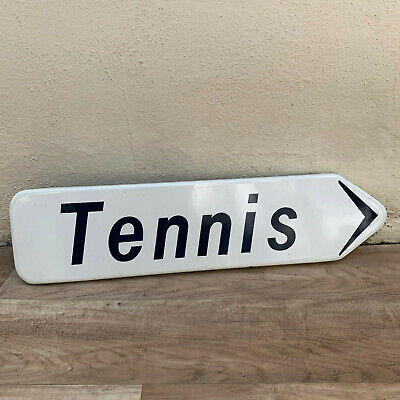 French Street road Sign Plaque ENAMELED vintage TENNIS 1511196