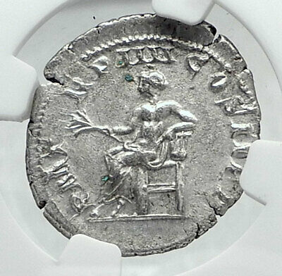 GORDIAN III Authentic Ancient 241AD Rome Silver Roman Coin APOLLO NGC i81432