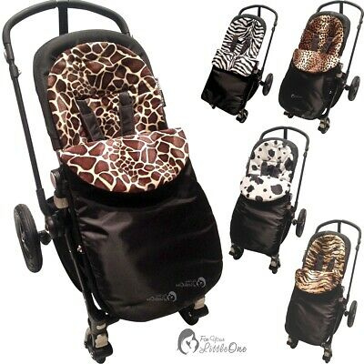 Animal Print Padded Pushchair Footmuff / Cosy Toes Compatible with Cosatto