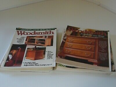 Lot of 18 Woodsmith Notes Woodworking Plans catalogs