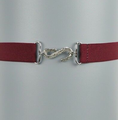 Children's Elastic Belt | Burgundy Elasticated Kids Snake Belt | Handmade in UK