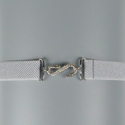 Child's Elastic Belt | Grey Glitter Elasticated Kids Snake Belt | Handmade in UK