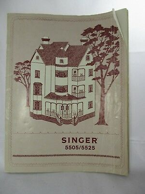 Singer 5505-5525 Sewing Machine/Embroidery/Serger Owners Manual