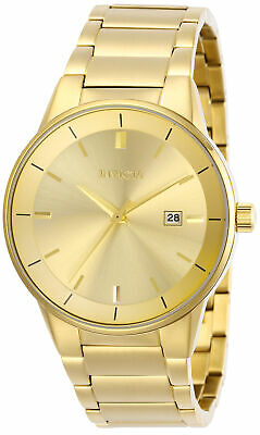 Invicta Men's 29476 Specialty Quartz 3 Hand Gold Dial Watch
