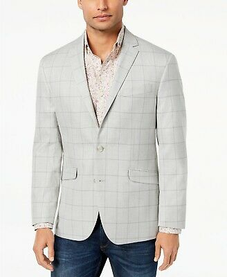 Kenneth Cole Reaction Men's Slim-Fit Stretch Windowpane Sport Coat, 38R, $295