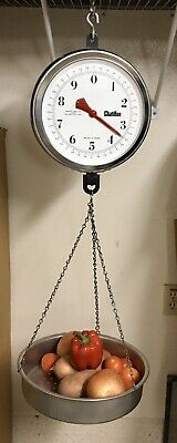 Vintage Antique Chatillon Porcelain Grocery General Store Hanging Scale U.S.A.