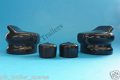 2 x 7 Pin Plug & Socket Covers for Caravan and Trailer towing